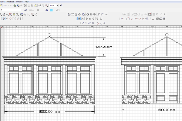 Bespoke joinery cad picture